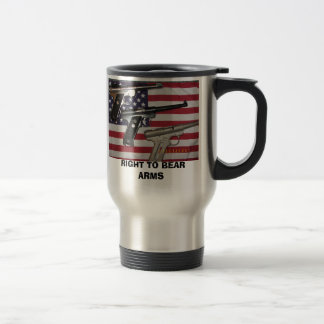 RIGHT TO BEAR ARMS TRAVEL MUG