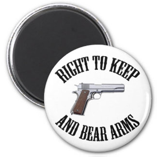 Right To Keep And Bear Arms 1911 2 Inch Round Magnet