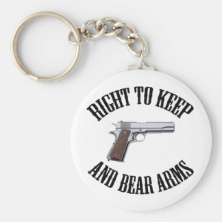 Right To Keep And Bear Arms 1911 Keychain