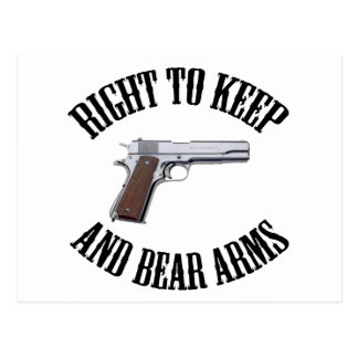 Right To Keep And Bear Arms 1911 Postcard