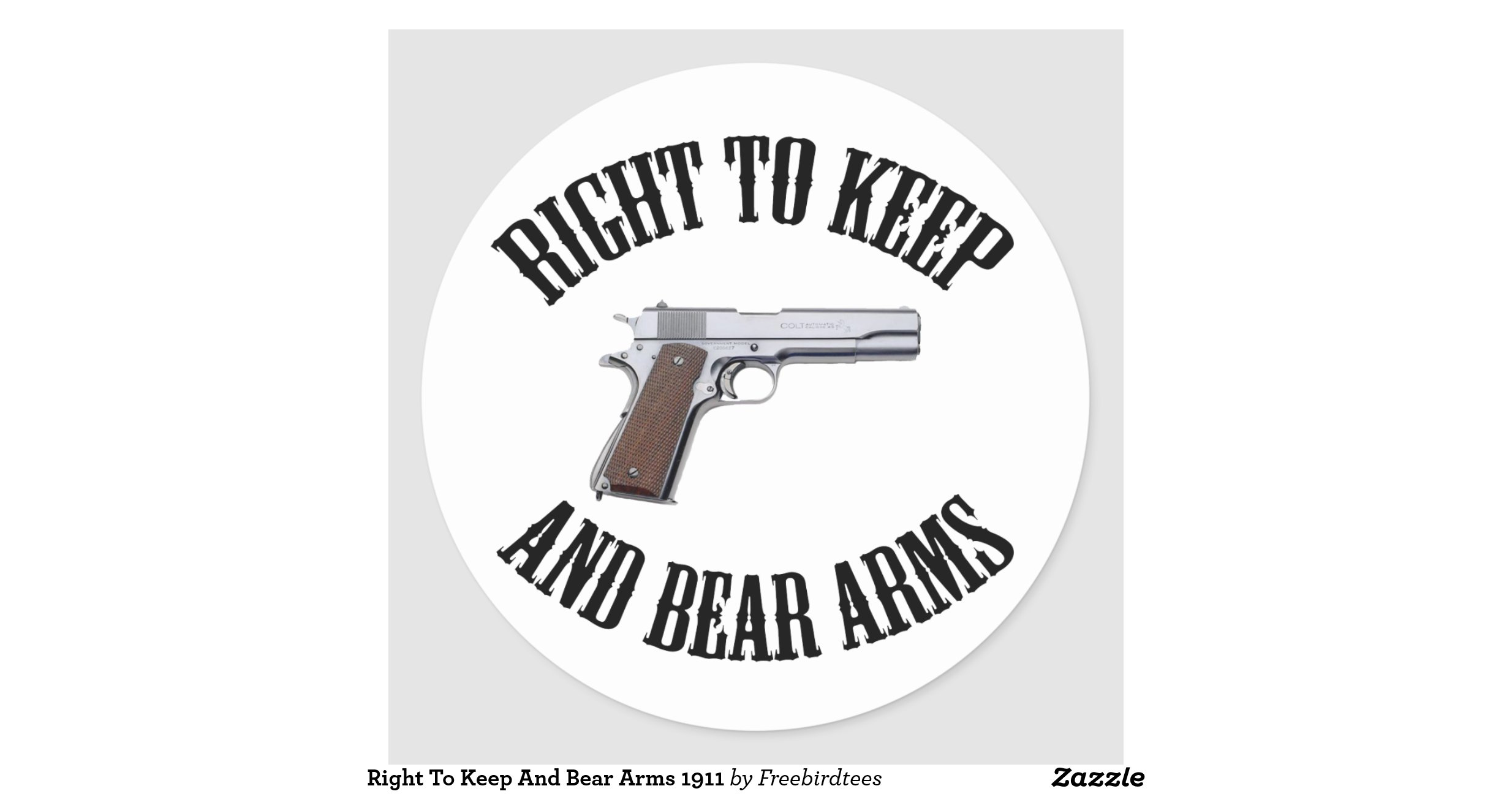 the freedom to bear arms Who knows better what the second amendment means than the founding fathers i prefer dangerous freedom over the right of the people to keep and bear arms.