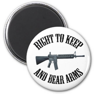 Right To Keep And Bear Arms AR-15 2 Inch Round Magnet
