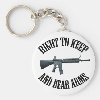 Right To Keep And Bear Arms AR-15 Keychain