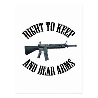 Right To Keep And Bear Arms AR-15 Postcard