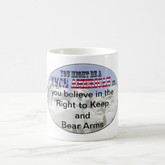 right to keep and bear arms classic white coffee mug