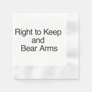 Right to Keep and Bear Arms Paper Napkins