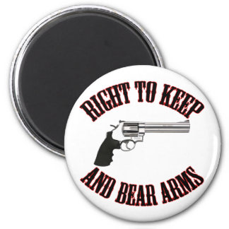 Right To Keep And Bear Arms Revolver 2 Inch Round Magnet