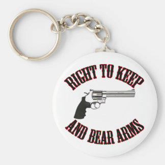 Right To Keep And Bear Arms Revolver Keychain
