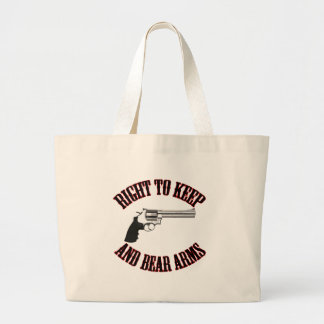 Right To Keep And Bear Arms Revolver Large Tote Bag