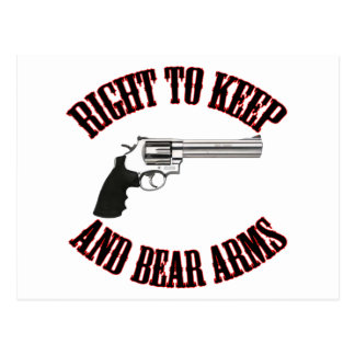Right To Keep And Bear Arms Revolver Postcard