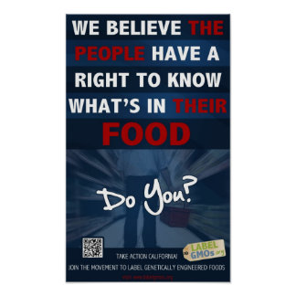 """Right to Know Poster - 11x18"""" - LabelGMOs.org"""