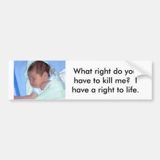 Right to life bumper sticker