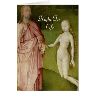 Right To Life Greeting Card