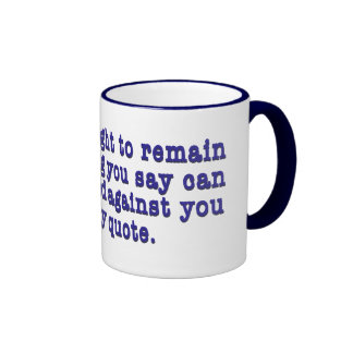 Right To Remain Quoted Ringer Mug