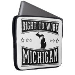 Right To Work Michigan Laptop Sleeves