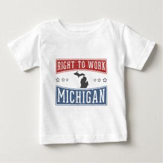 Right To Work Michigan Tee Shirt