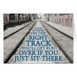 Right Track Quote on Photograph Cards