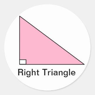 Right Triangle Sticker