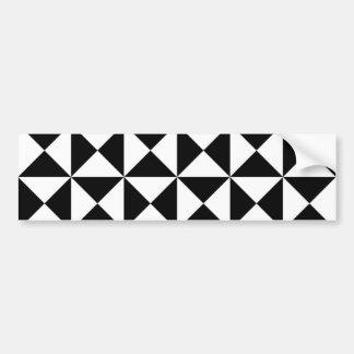 Right Triangle Tessellation Pattern Car Bumper Sticker