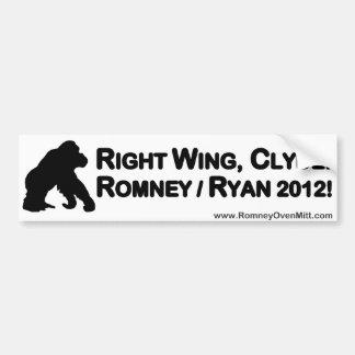 Right Wing Clyde! Bumper Sticker Car Bumper Sticker