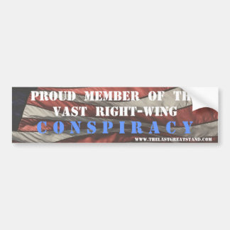 Right Wing Conspiracy Magnet/Bumper Sticker