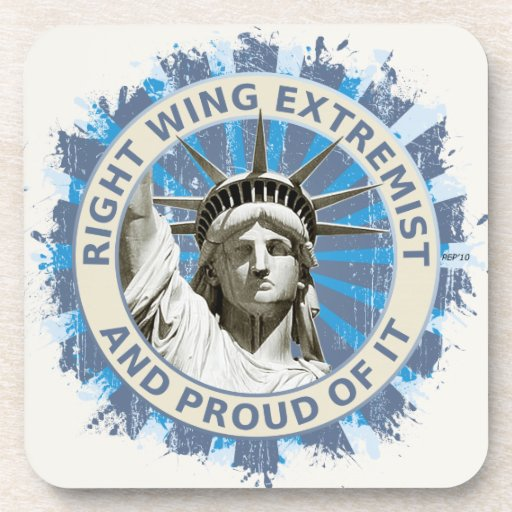 Right Wing Extremist Beverage Coasters