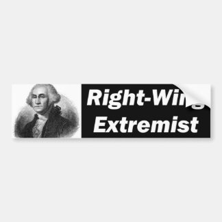 Right Wing Extremist Car Bumper Sticker