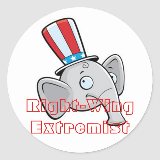 Right-Wing Extremist Classic Round Sticker