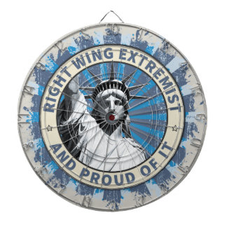 Right Wing Extremist Dartboard With Darts