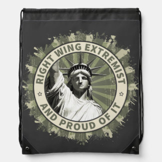 Right Wing Extremist Drawstring Backpack