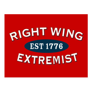 Right-Wing Extremist Est 1776 Post Cards