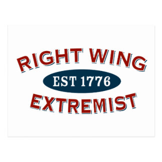 Right-Wing Extremist Est 1776 Postcard