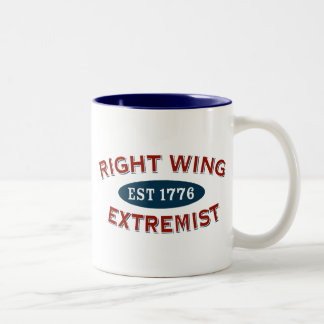 Right-Wing Extremist Est 1776 Two-Tone Coffee Mug