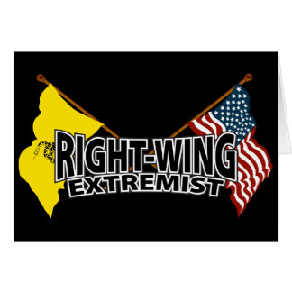 Right Wing Extremist Flags Card