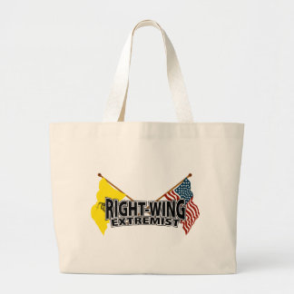 Right Wing Extremist Flags Large Tote Bag