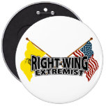 Right Wing Extremist Flags Pin