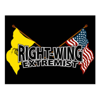 Right Wing Extremist Flags Postcard