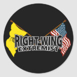 Right Wing Extremist Flags Round Sticker