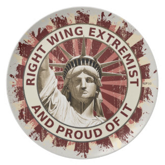 Right Wing Extremist Melamine Plate