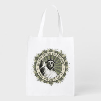 Right Wing Extremist Reusable Grocery Bags