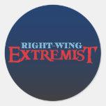 Right-Wing Extremist Round Sticker