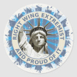 Right Wing Extremist Round Stickers