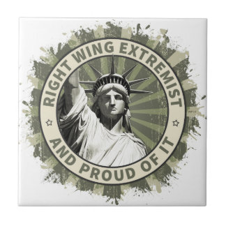Right Wing Extremist Ceramic Tile