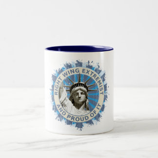 Right Wing Extremist Two-Tone Coffee Mug