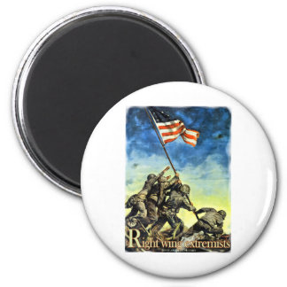 Right Wing Extremists 2 Inch Round Magnet