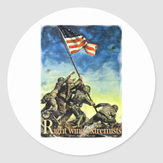 Right Wing Extremists Classic Round Sticker