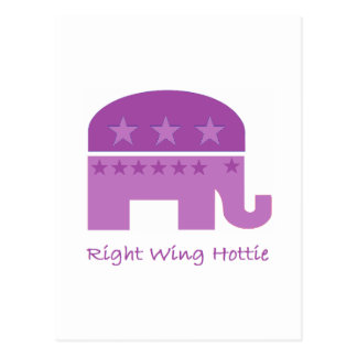 Right Wing Hottie T-shirt and gift design Postcard