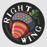 Right Wing Nut Round Sticker