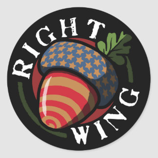 Right Wing Nut Classic Round Sticker