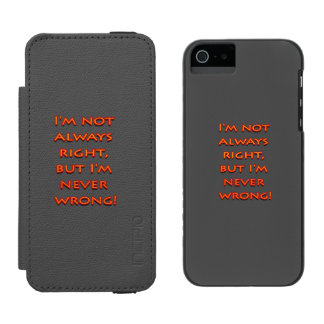Right-wrong funny text incipio watson™ iPhone 5 wallet case